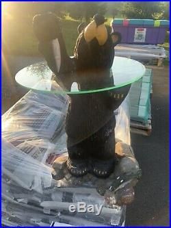 Big Sky Carvers Bearfoots Grand Black Bear Coffee TableNice