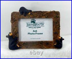Big Sky Carvers Bearfoots Huckleberry Bears 4 X 6 Photo Frame New Free Shipping