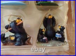 Big Sky Carvers Bearfoots Jeff Fleming 12 Days of Christmas Black Bear Ornaments