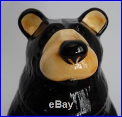 Big Sky Carvers Bearfoots Jeff Fleming Black Bear Ceramic Cookie Jar
