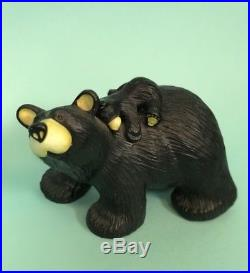 Big Sky Carvers Bearfoots Jill And Cub Figurine By Jeff Fleming