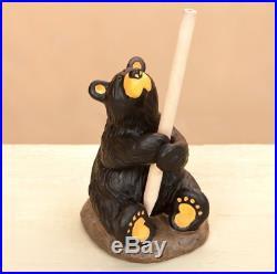 Big Sky Carvers Bearfoots Penny Bear Pencil Holder Figurine # B5080052