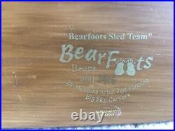 Big Sky Carvers Bearfoots Sled Team Figurine LTD Edition Jeff Fleming FREE SHIP