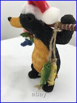 Big Sky Carvers Bearfoots Snowshoe Bear Figurine plus Riding Bike lot