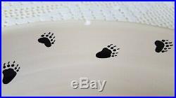Big Sky Carvers Bearfoots Tabletop Black Bear Chip Dip Platter Set -Jeff Fleming