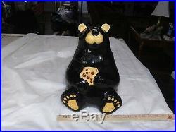 Big Sky Carvers Bearfoots Tabletop Black Bear Cookie Jar Jeff Fleming