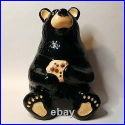 Big Sky Carvers Bearfoots Tabletop Cookie Jar Black Bear Foots by Jeff Fleming