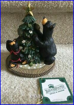 Big Sky Carvers Bearfoots Tree Trimming Figurine LTD Ed Jeff Fleming FREE SHIP