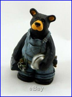Big Sky Carvers Bearfoots Workin' Bear Collectible Figurine New Free Shipping