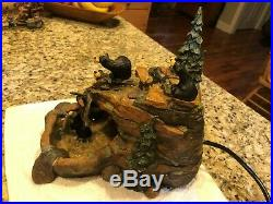 Big Sky Carvers Bears Mountain Fountain-Hard to Find In Great Condition Works