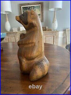 Big Sky Carvers Bears Raccoon Emily Rare And Vintage Wood Carved