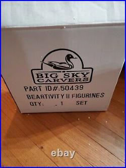 Big Sky Carvers Beartivity I & II Nativity Set Mint in Box