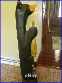 Big Sky Carvers Black Bear with fish by Artist Jeff Fleming