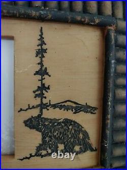 Big Sky Carvers Black Twig Bear Distressed Photo Picture Frame 4 x 6 Decor