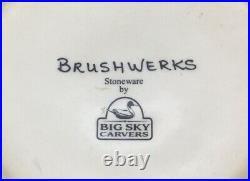 Big Sky Carvers Brushwerks Bear Dinner 10.75 Salad 8.5 Large Soup 9.5