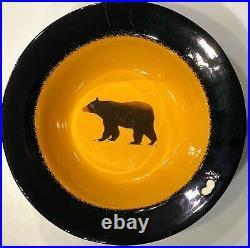 Big Sky Carvers Brushwerks Bear Large SERVING BOWL 13.25 Stoneware RETIRED RARE
