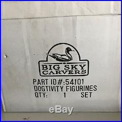 Big Sky Carvers Dogtivity Figurines Set #54101 Rare