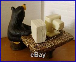 Big Sky Carvers E-Bear Computer Bear Figurine 6 x 3.5 Jeff Fleming New in Box