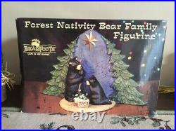 Big Sky Carvers Forest Nativity Bear Family Figurine, great cond in box