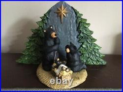 Big Sky Carvers Forest Nativity Bear Family Figurine original box Bearfoots