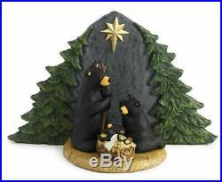 Big Sky Carvers Forest Nativity Black Bear Family Figurine Bearfoots