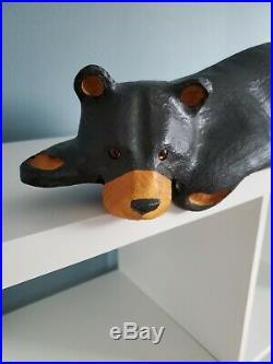 Big Sky Carvers Hand Carved Hanging Wood Bear Artist Jeff Fleming Montana BSC