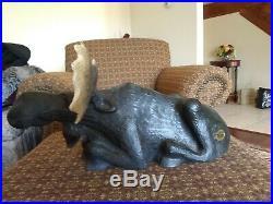Big Sky Carvers-Hand Carved Jeff Fleming Wood Moose Sculpture