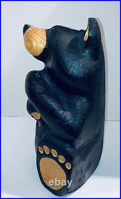 Big Sky Carvers Jeff Fleming 13 Tall Bearfoots Pine Wood Carved Black Bear