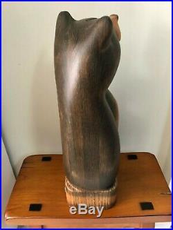 Big Sky Carvers Jeff Fleming Bear Wood Carving Jackson Bear Sculpture Polished