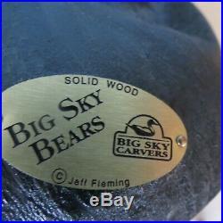 Big Sky Carvers Jeff Fleming Bearfoot Mikey Waving Black Bear
