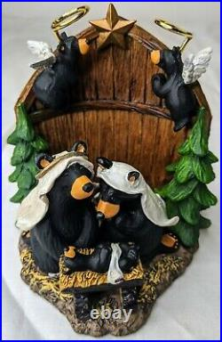 Big Sky Carvers Jeff Fleming Bearfoots Beartivity Figure Christmas Nativity