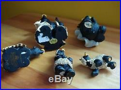 Big Sky Carvers Jeff Fleming Bearfoots Black Bear Beartivity II Figurine Set