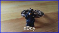 Big Sky Carvers Jeff Fleming Bearfoots Black Bear Grapevine Napkin Ring