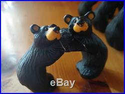 Big Sky Carvers Jeff Fleming Bearfoots Black Bear Napkin Ring Lot