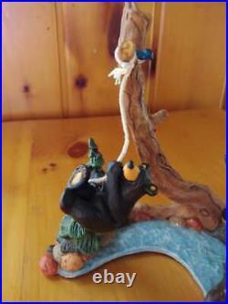 Big Sky Carvers Jeff Fleming Bearfoots Black Bear Old Swimming Hole Figurine