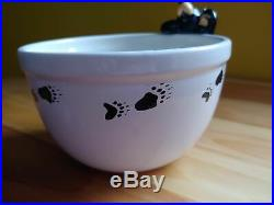 Big Sky Carvers Jeff Fleming Bearfoots Black Bear Paw Print Cereal Bowl