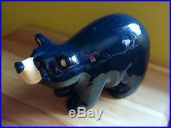 Big Sky Carvers Jeff Fleming Bearfoots Black Bear Piggy Coin Bank