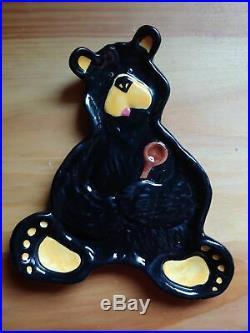 Big Sky Carvers Jeff Fleming Bearfoots Black Bear Spoon Rest Dish