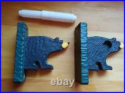 Big Sky Carvers Jeff Fleming Bearfoots Black Bear Toilet Paper Holder
