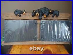 Big Sky Carvers Jeff Fleming Bearfoots Black Bear & Tree Photo Album Display