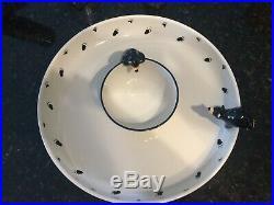 Big Sky Carvers Jeff Fleming Bearfoots Black Bear Vegetable Chip Dip Platter Set