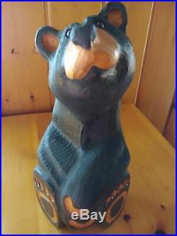 Big Sky Carvers Jeff Fleming Bearfoots Black Bear Wood Carved Pine Sculpture