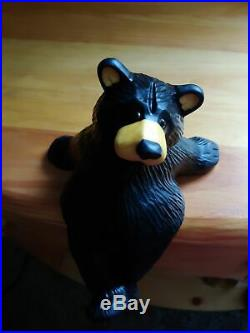 Big Sky Carvers Jeff Fleming Bearfoots Forest Shelf Sitter Black Bear Figurine