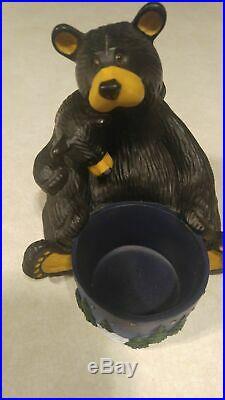 Big Sky Carvers Jeff Fleming Bearfoots Light My Fire Candle Holder Bear Figurine