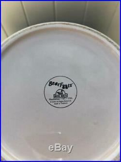 Big Sky Carvers Jeff Fleming Bearfoots Medium Black Bear Canister Jar