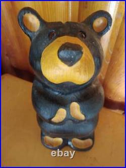Big Sky Carvers Jeff Fleming Bearfoots Pine Wood Carved Standing Black Bear