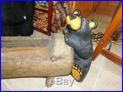 Big Sky Carvers Jeff Fleming Bearfoots Rare Al & Dale Black Bear Planter