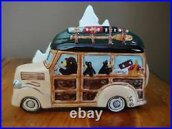 Big Sky Carvers Jeff Fleming Bearfoots Woodie Napkin Holder Black Bear Car