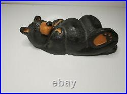 Big Sky Carvers Jeff Fleming Black Bear Wood Carving Bear Sculpture 10.5'' T