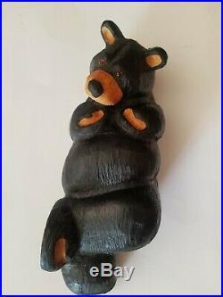 Big Sky Carvers Jeff Fleming Black Bear Wood Carving Sculpture Chilln Bear